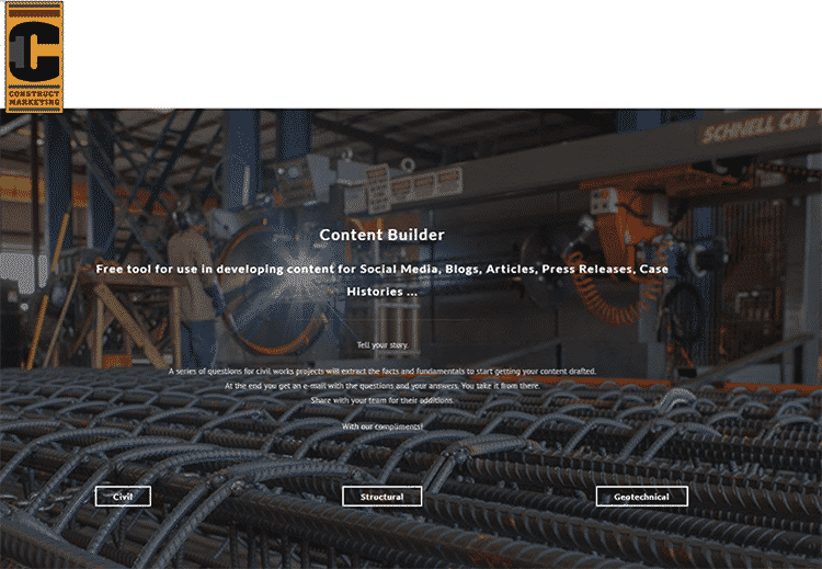 Content Builder for AEC companies ready to tell their story